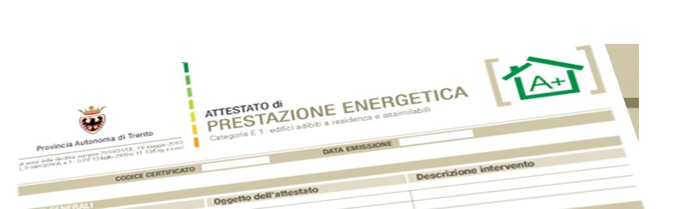 Nuovo APE provincia di Trento